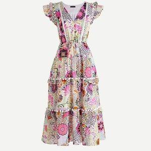 {J. Crew} Pom-pom dress in Ratti Retro Floral